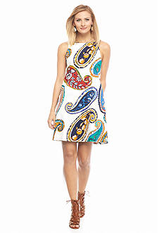 maia Paisley Printed Trapeze Dress