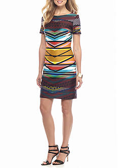 maia Stripe Sheath Dress