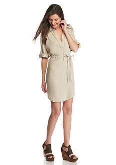 ALLEN B. BY ALLEN SCHWARTZ Three-Quarter Sleeve Shirt Dress