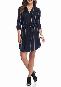 ALLEN B. BY ALLEN SCHWARTZ Striped Shirt Dress