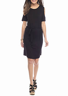 ALLEN B. BY ALLEN SCHWARTZ Cold Shoulder Knit Dress