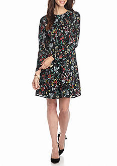 ALLEN B. BY ALLEN SCHWARTZ Floral Printed Trapeze Dress