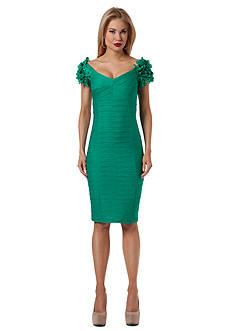 NUE by Shani™ Pom Pom Sleeve Sheath Dress