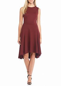 Nanette Nanette Lepore™ Hi-Lo Hem Ponte Fit and Flare Dress