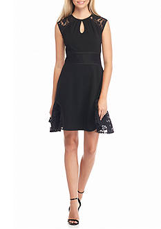 Nanette Nanette Lepore™ Lace Inset Fit and Flare Dress