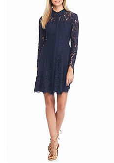 Nanette Nanette Lepore™ Lace Button Front Shirt Dress