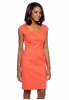 Adrianna Papell Cap-Sleeved Sheath Dress