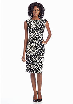 Adrianna Papell Printed Empire-waist Dress