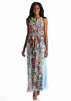 Adrianna Papell Floral Printed Maxi Dress