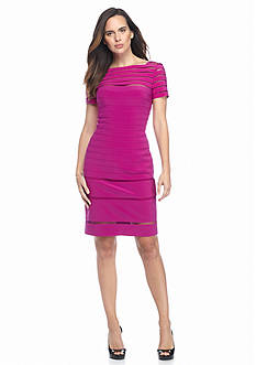 Adrianna Papell Illusion Stripe Sheath Dress