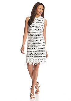Adrianna Papell Lace Overlay Sheath Dress