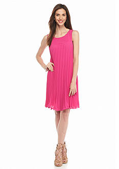 Adrianna Papell Pleated Shift Dress