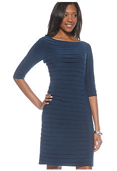 Adrianna Papell Bateau Neck Dress