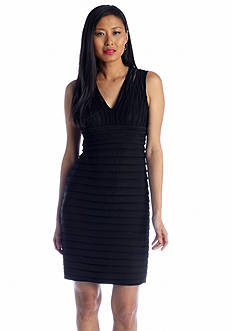 Adrianna Papell Banded Shutter Sheath Dress