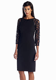 Adrianna Papell Raglan Sleeve Sheath Dress