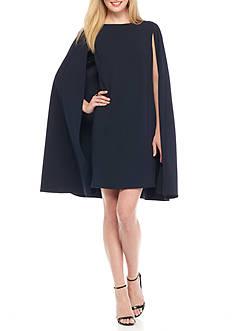Adrianna Papell Cape Ovelay Sheath Dress