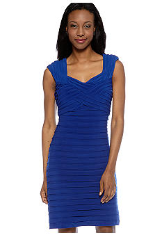 Adrianna Papell Cap-Sleeved Bandage Dress