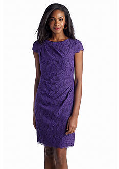 Adrianna Papell All-over Lace Sheath Dress