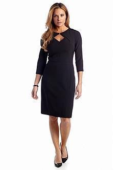 Adrianna Papell Three-Quarter Sleeve Sheath Dress