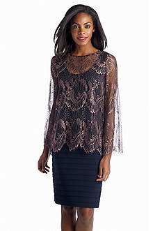 Adrianna Papell Lace Popover Dress
