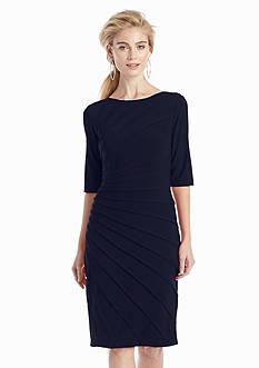 Adrianna Papell Asymmetrical Banded Sheath Dress