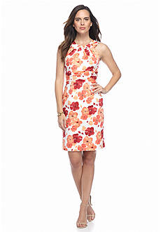 Adrianna Papell Floral Printed Halter Dress