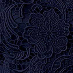 Bridesmaid Dresses: Navy Adrianna Papell Sleeveless Allover Lace Sheath Dress