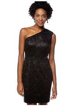 Adrianna Papell Lace Sequin Dress