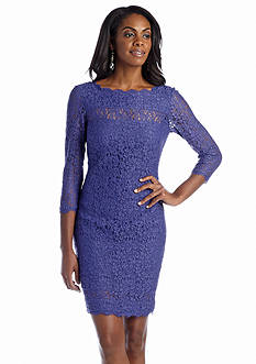 Adrianna Papell Allover Lace Cocktail Dress