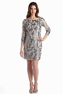 Adrianna Papell Allover Sequin Cocktail Dress