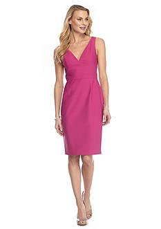 Adrianna Papell Deep V-Neckline Cocktail Dress