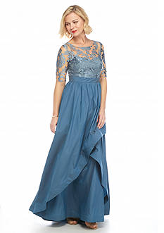 Adrianna Papell Embroidered Bodice Gown