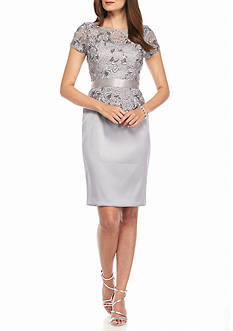 Adrianna Papell Mock Two-Piece Sheath Dress