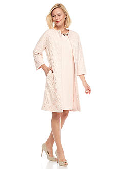 Adrianna Papell Lace Jacket Dress