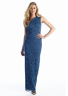 Adrianna Papell One Shoulder Lace Gown