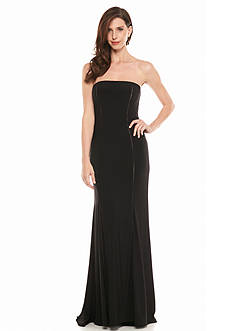 Adrianna Papell Strapless Jersey Gown