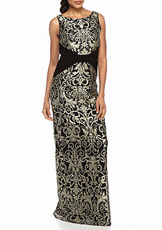 Adrianna Papell Jersey and Lace Gown