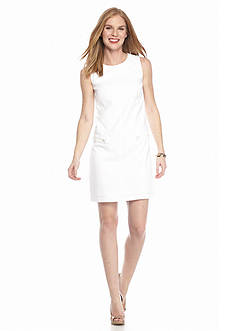 AGB Sleeveless Pique Shift Dress
