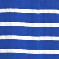 Casual Dresses: Cobalt/White AGB Striped Trapeze Dress