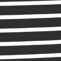 Casual Dresses: Black/White AGB Striped Trapeze Dress