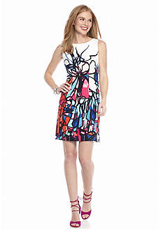 AGB Printed Sheath Dress