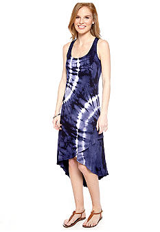 AGB Sleeveless Tie Dye Hi-Lo Tank Dress