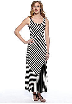 AGB Sleeveless Stripe Maxi Dress