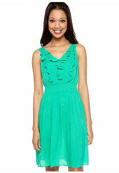 AGB Sleeveless Ruffle Sundress