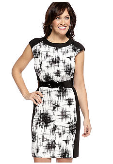 AGB Plus Size Printed Sheath