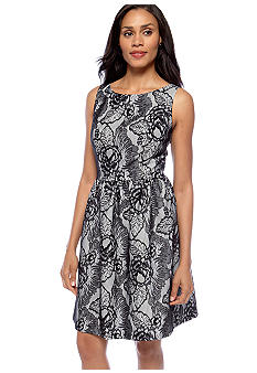 AGB Petite Sleeveless Lace Overlay Dress