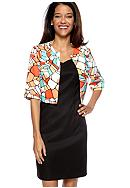 AGB Petite Multicolor Jacket Dress