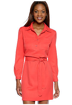 Nine West Dress Long-Sleeved Shirt Dress