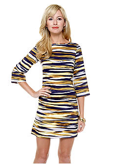 Nine West Dress Graphic Stripe Shift Dress