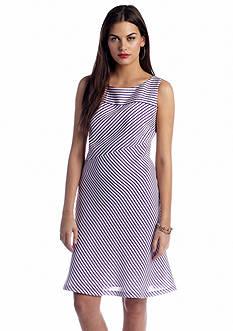 Nine West Dress Sleeveless Striped A-Line Dress